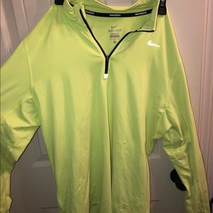 neon yellow nike pullover- size XL